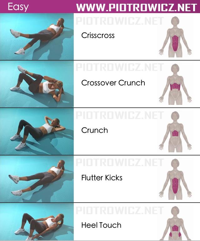 rutina para marcar el abdomen