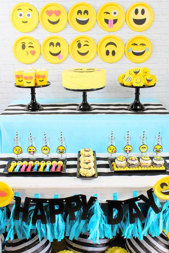 Fiesta cumpleanos tematica emojis 18 decoracion de for Decoracion economica de interiores