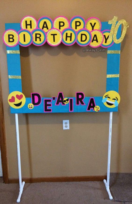 Fiesta de cumpleaños con temática de EMOJIS