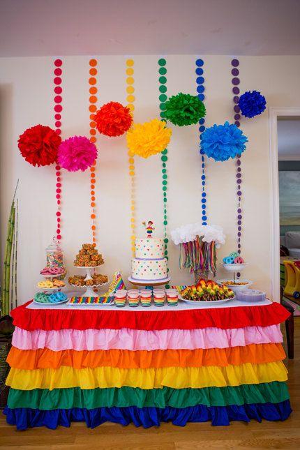 Fiesta Infantil Tema Arcoiris 13 Como Organizar La Casa