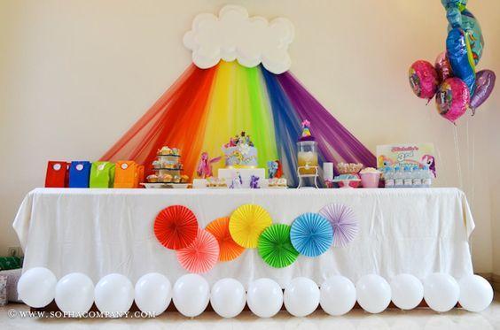 Fiesta infantil tema arcoiris 3 decoracion de - Decoracion de interiores infantil ...