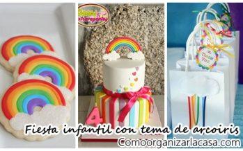 Fiesta infantil con tema de arcoiris