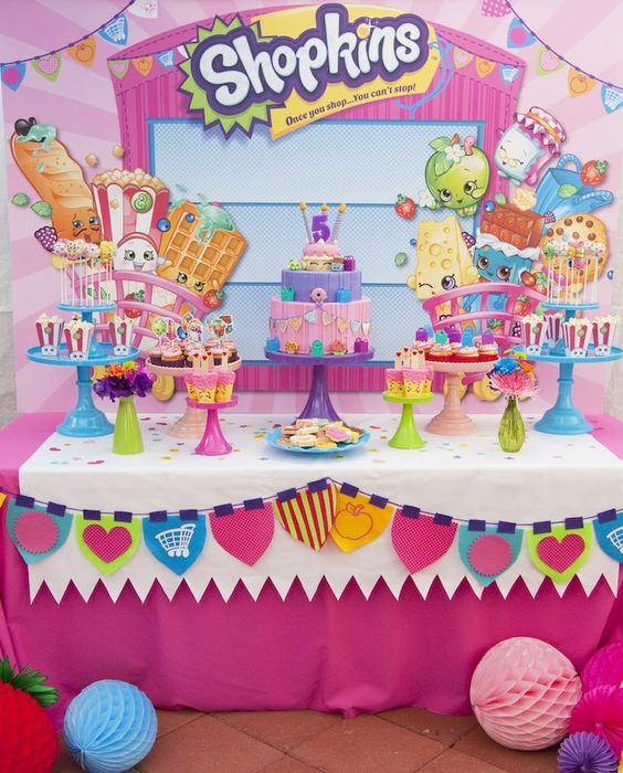 Fiesta infantil con tema de shopkins