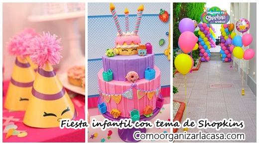 Fiesta infantil con tema de shopkins decoracion de - Decoracion zapateria infantil ...