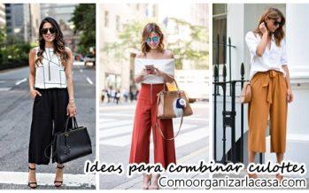 Ideas para combinar pantalones culottes