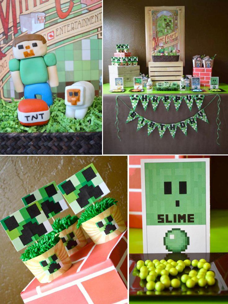 Ideas organizar una fiesta tema minecraft 24 - Ideas para organizar la casa ...