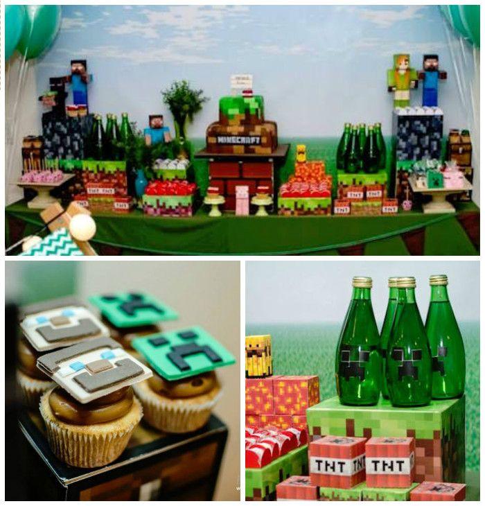 Ideas para organizar una fiesta con tema de Minecraft