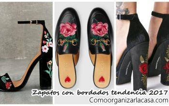 La tendencia de bordados llego a los zapatos ¿Te animas?