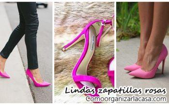 Lindas zapatillas tono rosa ¡Te van a encantar!