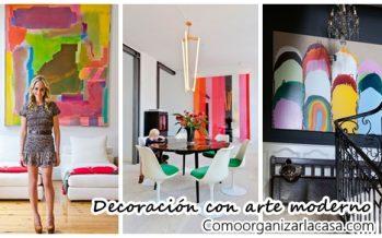 Maneras de usar arte moderno para decorar tu casa