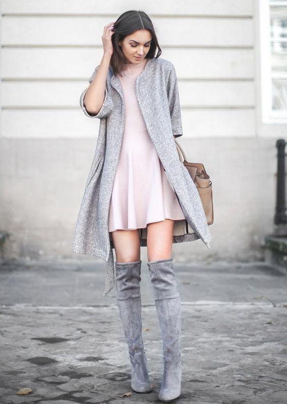 outfits con botas largas