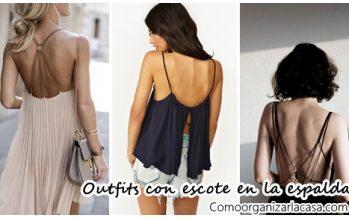 Outfits con escote en la espalda ideales para primavera-verano