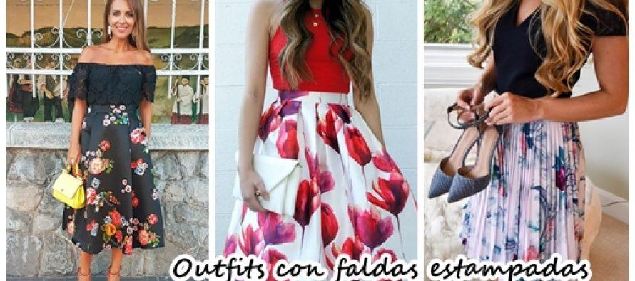 Outfits con faldas con estampado floral