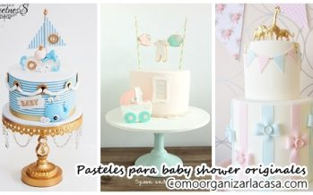 Pasteles para baby shower originales