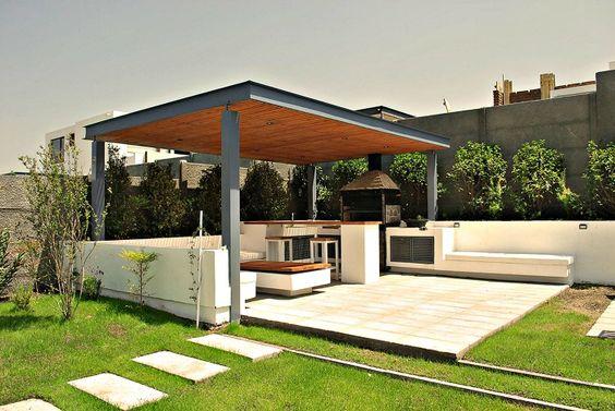 Patios techados una increible opcion casa 21 como for Cobertizo de jardin moderno de techo plano