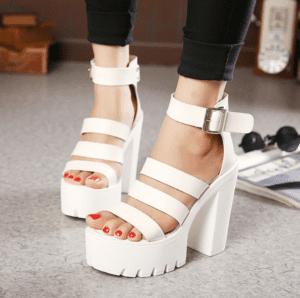 Tacones de moda plataforma