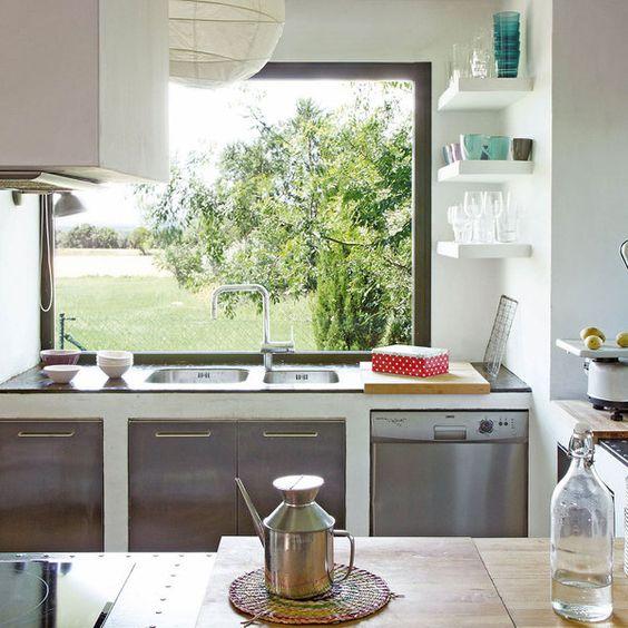 Ventanas frente del fregadero la cocina se ven increibles 31 decoracion de interiores - Fregaderos para cocinas ...