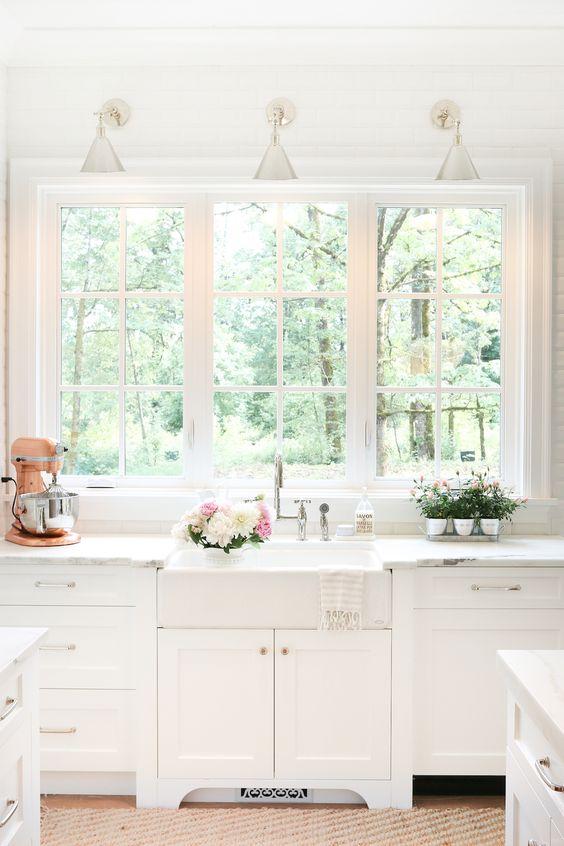 Ventanas frente del fregadero la cocina se ven increibles - La cocina del 9 ...