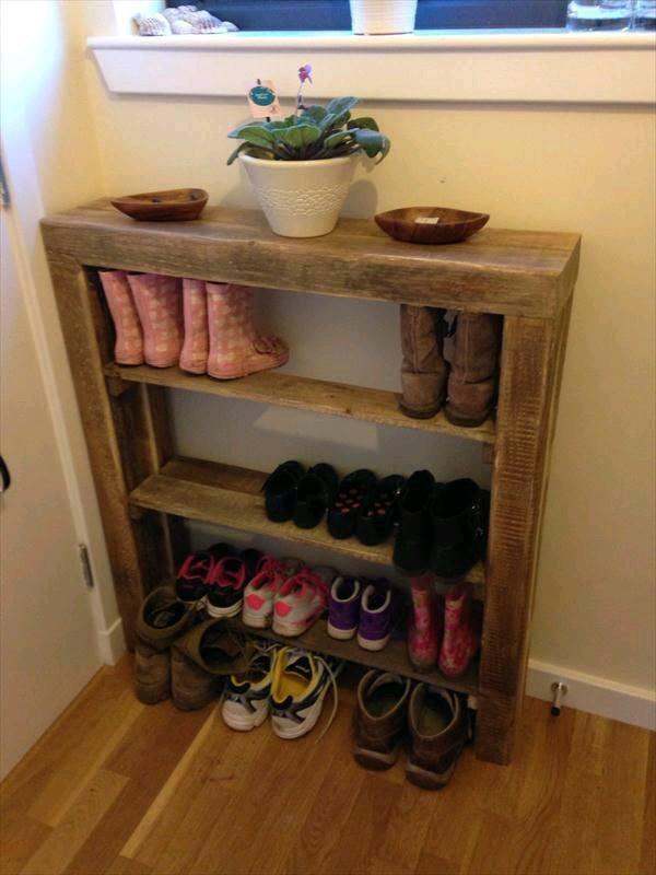 26 ideas practicas organizar tus zapatos 14 decoracion for Schuhschrank paletten