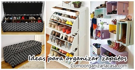 26 ideas pr cticas para organizar tus zapatos - Ideas para decorar zapatos de nina ...