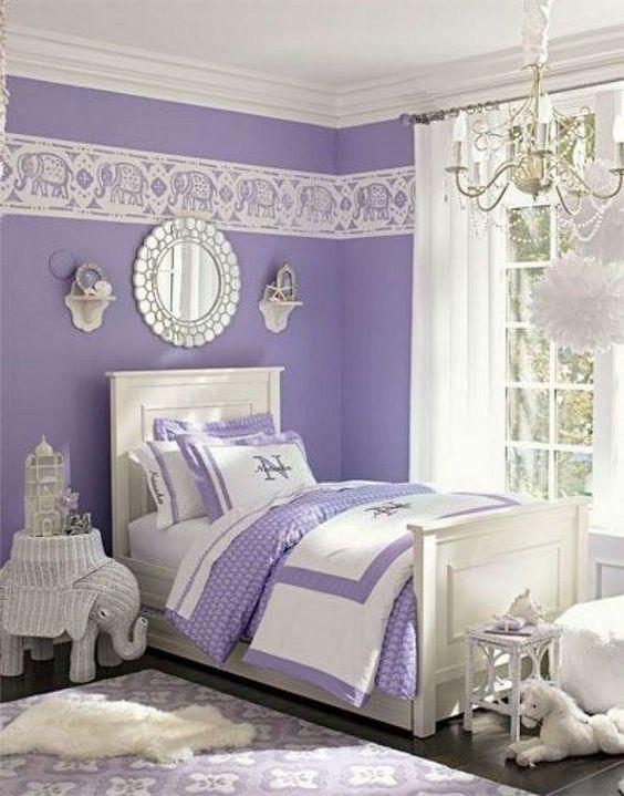 28 opciones decorar habitaciones color lila 3 for Opciones para decorar un cuarto