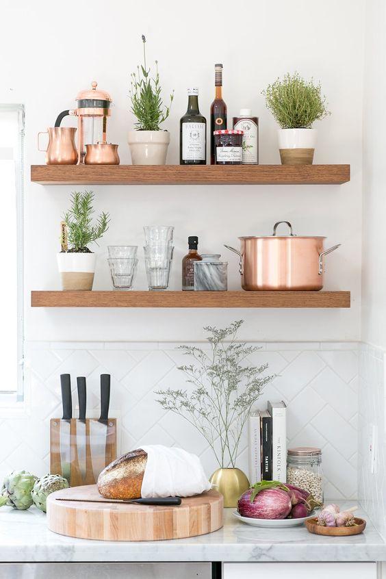 29 ideas repisas cocinas mas ordenadas 12 decoracion - Repisas de marmol ...