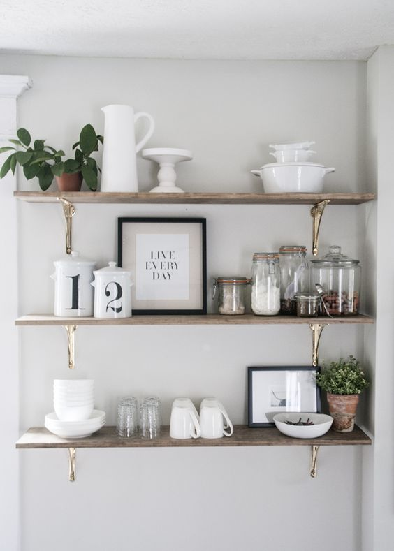 29 ideas repisas cocinas mas ordenadas 23 decoracion Repisas pequenas para bano