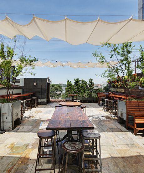 29 opciones fantasticas pergolas toldos patio 10 decoracion de interiores fachadas para - Toldos para patios interiores ...