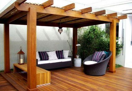 29 opciones fantasticas pergolas toldos patio 13 for Toldos para patios interiores