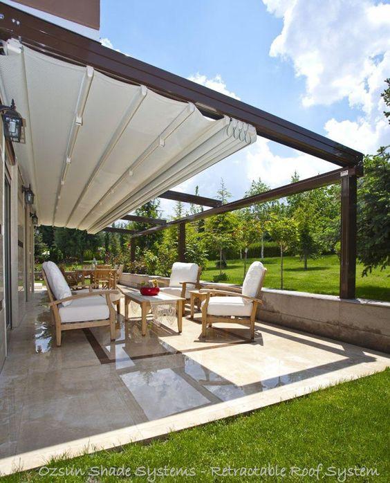 29 opciones fantasticas pergolas toldos patio 16 decoracion de interiores fachadas para - Toldos para patios interiores ...