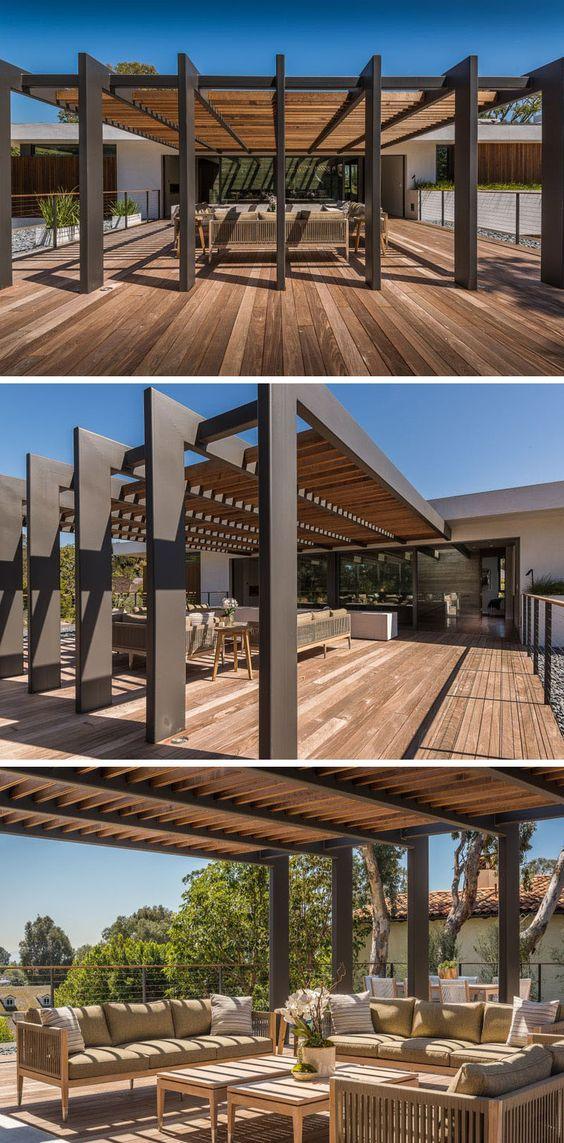 29 opciones fantasticas pergolas toldos patio 21 decoracion de interiores fachadas para - Toldos para patios interiores ...