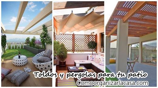 29 opciones fantasticas de pergolas y toldos para tu patio decoracion de interiores fachadas - Toldos para patios interiores ...