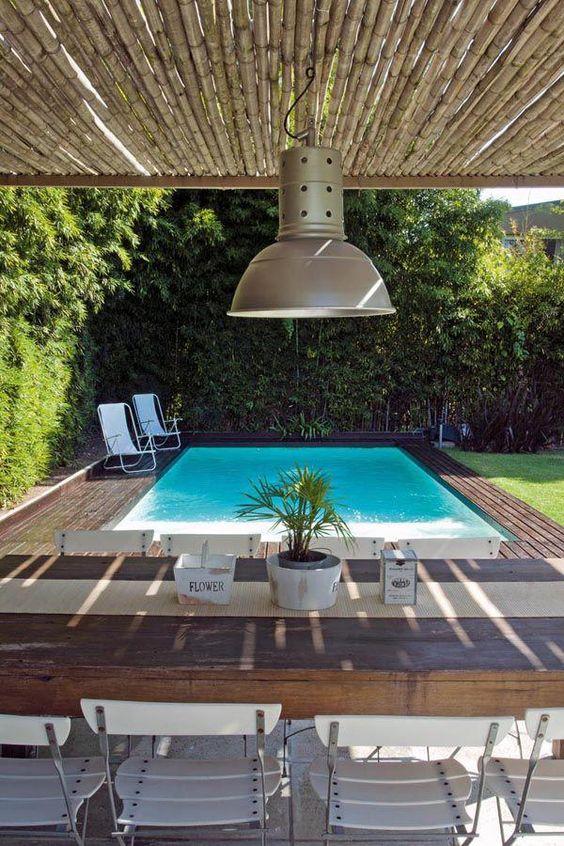 Diseños de albercas en jardines pequeños