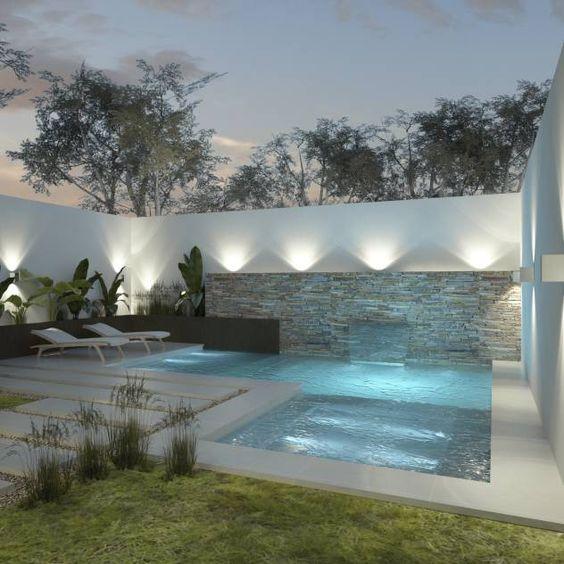 30 disenos albercas jardines pequenos 28 for Fotos de piscinas modernas en puerto rico