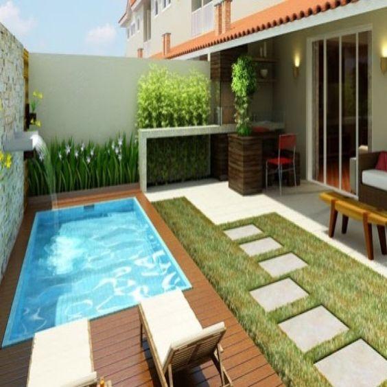 30 disenos albercas jardines pequenos 6 Fotos de patios de casas pequenas
