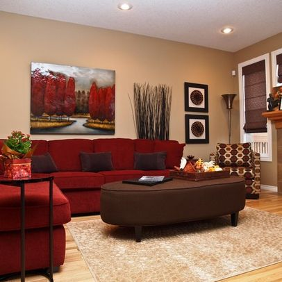 30 Ideas Decorar Sala Estar Sofas Rojos 16 Como