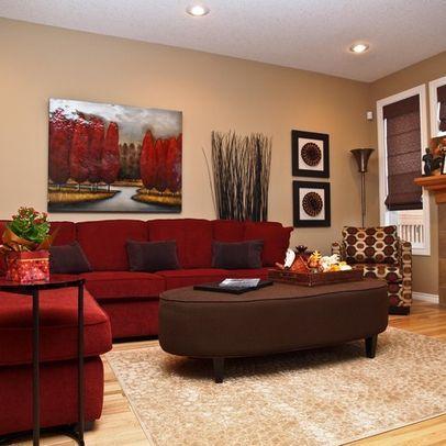 30 Ideas Decorar Sala Estar Sofas Rojos 16 Decoracion