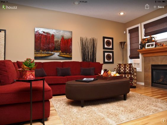 30 Ideas Decorar Sala Estar Sofas Rojos 21