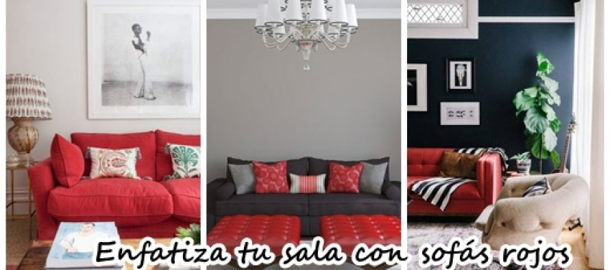 30 Ideas para decorar tu sala de estar con sofás rojos