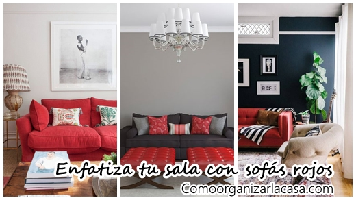 30 ideas para decorar tu sala de estar con sof s rojos for Ideas para decorar una sala de estar pequena