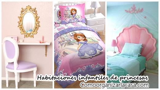 30 ideas para habitaciones infantiles decoradas con princesas decoracion de interiores - Habitaciones infantiles decoradas ...