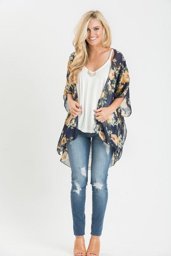 Outfits con kimonos para verano