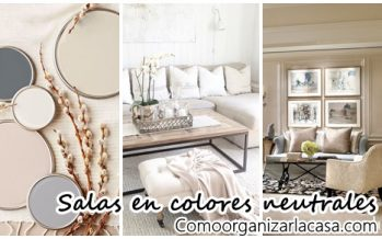 30 Salas de estar decoradas con colores neutrales