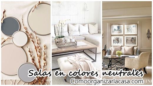 30 Salas de estar decoradas con colores neutrales