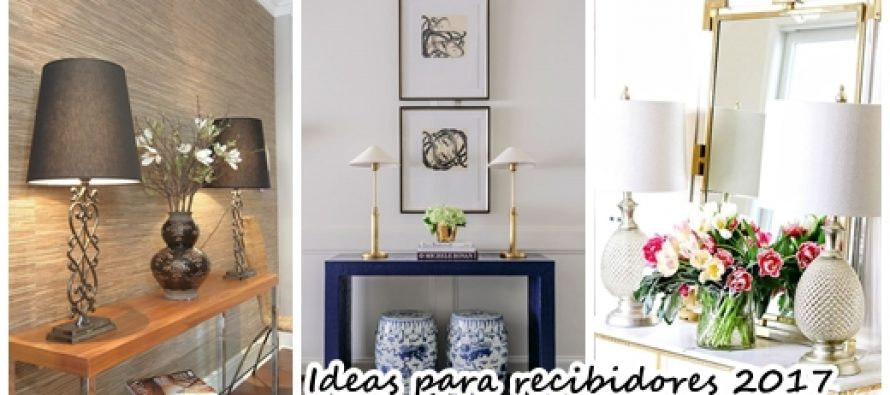 31 propuestas para decorar recibidores 2017 2018 curso - Decoracion de interiores 2017 ...