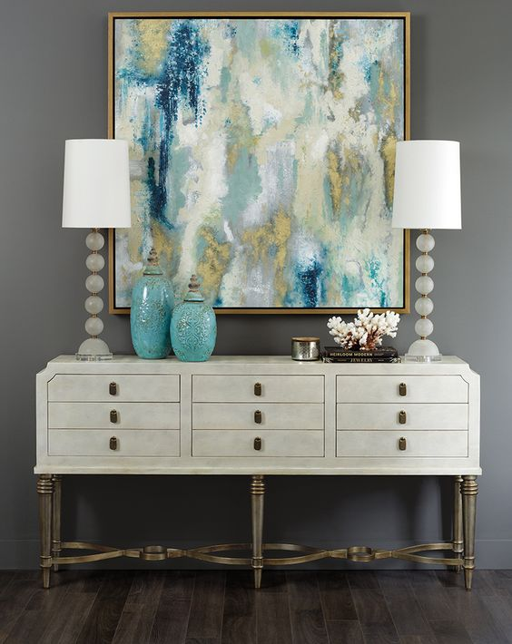 Painting Sideboard Ideas Teal