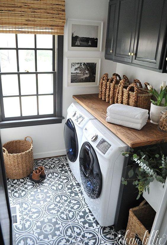 32 diseños de pisos para un cuarto de lavado moderno | Como ...