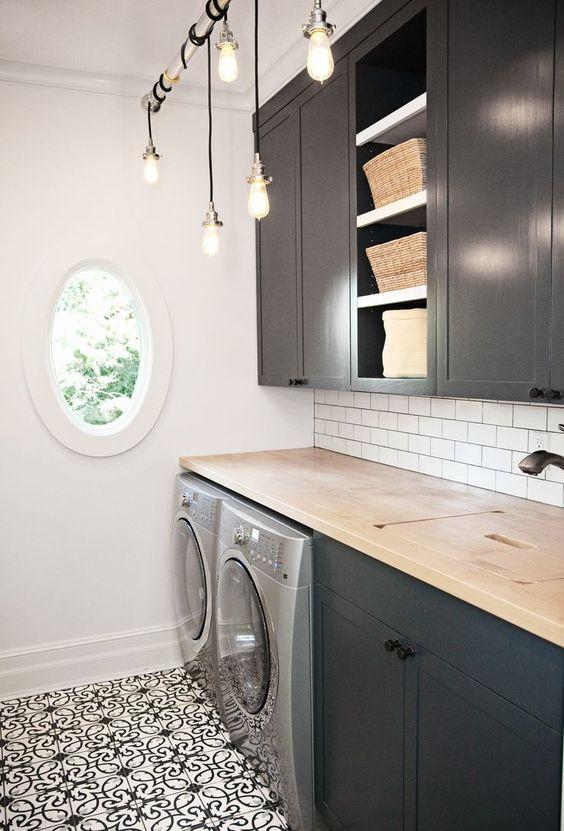 32 disenos pisos cuarto lavado moderno 21 decoracion for Diseno de muebles para cuarto de lavado