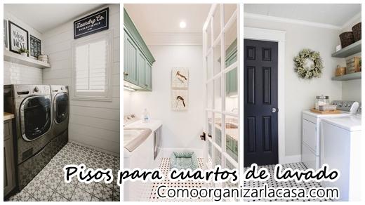 32 diseños de pisos para un cuarto de lavado moderno |