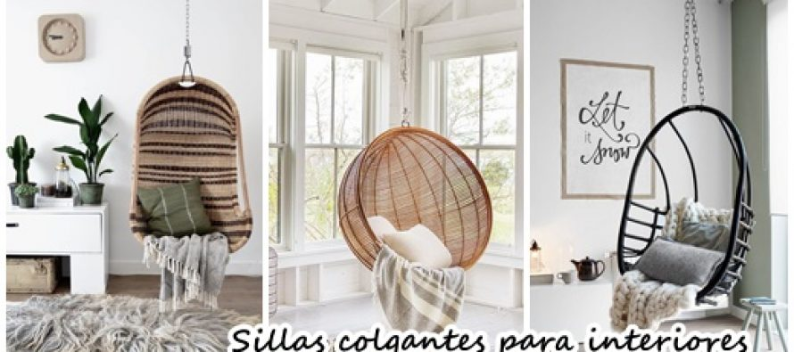 32 diseños de sillas colgantes para interiores ¡Te encantarán!